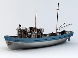Deep Sea Fishing Boat 3d model