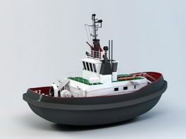 Vintage Tugboat 3d model
