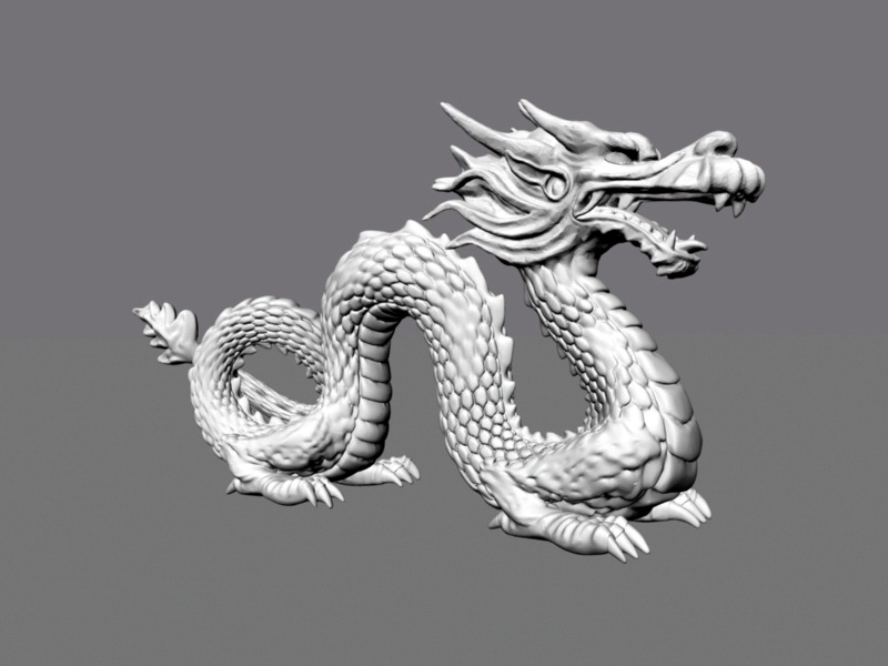 Chinese Dragon Sculpture 3d Model Maya Files Free Download