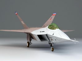 YF-22 Fighter Aircraft 3d model