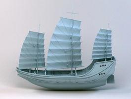 Merchant Sailing Ship 3d model