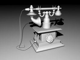 Vintage Telephone 3d model