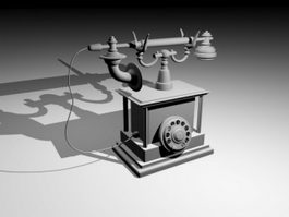 Old Telephone 3d model