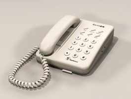 Single Line Desk Phone 3d model