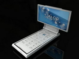 Sharp Mobile Phone 3d model