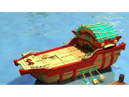 Anime Boat 3d model