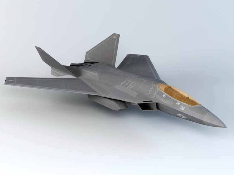 F 52 Fighter Jet 3d Model 3ds Max Autodesk Fbx Object