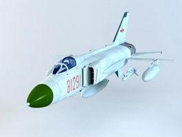 Shenyang J-8 Finback 3d model