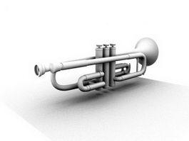 B? trumpet 3d model