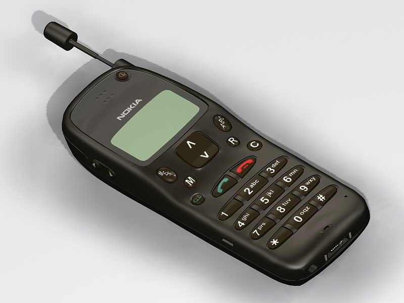 Old Nokia Phone 3d Model 3ds Max Files Free Download