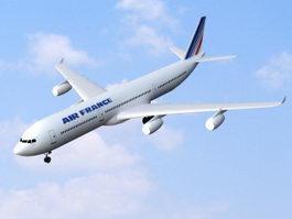 Air France Airbus A340-300 3d model