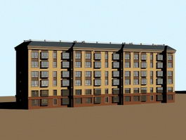 Communist Apartment Blocks 3d model