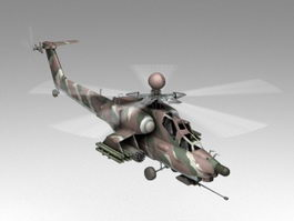 Mi-28 Attack Helicopter 3d model