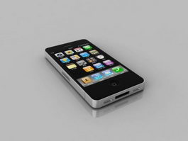 iPhone 4 Black 3d model