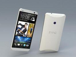 HTC One Smartphone 3d model