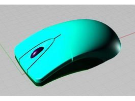Optical Wheel Mouse 3d model