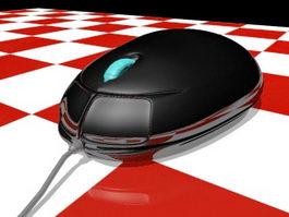 Black Computer Mouse 3d model