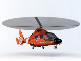 SA 365 Dauphin Utility Helicopter 3d model
