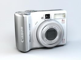 Canon PowerShot A560 3d model