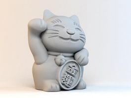 Beckoning Cat 3d model