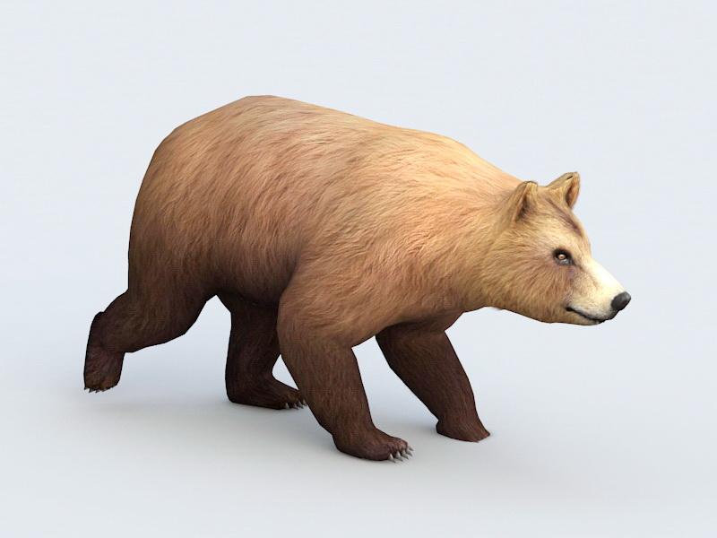 Bear Walking Animation 3d model 3ds Max,Autodesk FBX files free