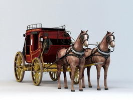 Horse-drawn Carriage 3d model