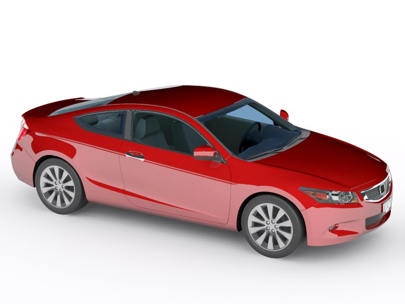 Honda Accord Coupe 3d Model 3ds Max Files Free Download