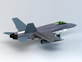 F18 Fighter 3d model