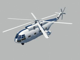 Changhe Z-8 Helicopter 3d model