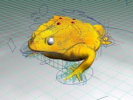 Golden Toad Rig 3d model
