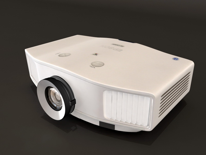 3dSkyHost: EPSON EB-C520XH Projector 3D Model