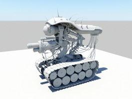 Sci Fi Robot Tank 3d model