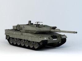 Leopard 2 Tank 3d model