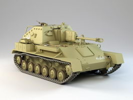 SU-76M Tank Destroyer 3d model
