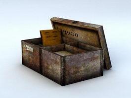 Vintage Ammo Box 3d model