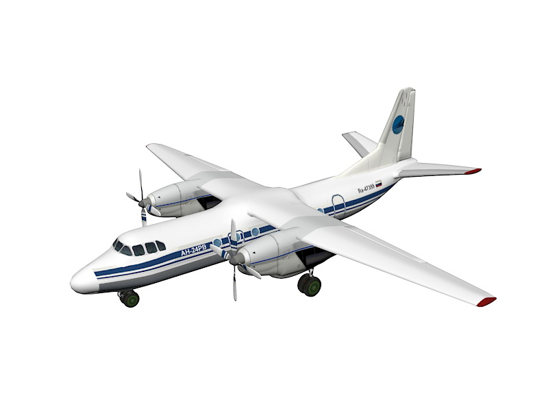 An-24 Aircraft 3d model - CadNav