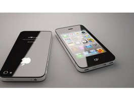 iPhone 4S Black 3d preview