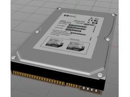 HP Hard Drive 3d model