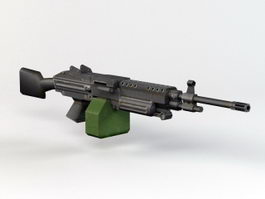 M249 SAW Machine Gun 3d model