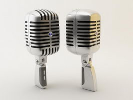 Music Microphone 3d model