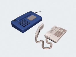 Wireless Phone and Phone 3d model