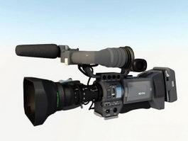 Television Video Camera 3d model