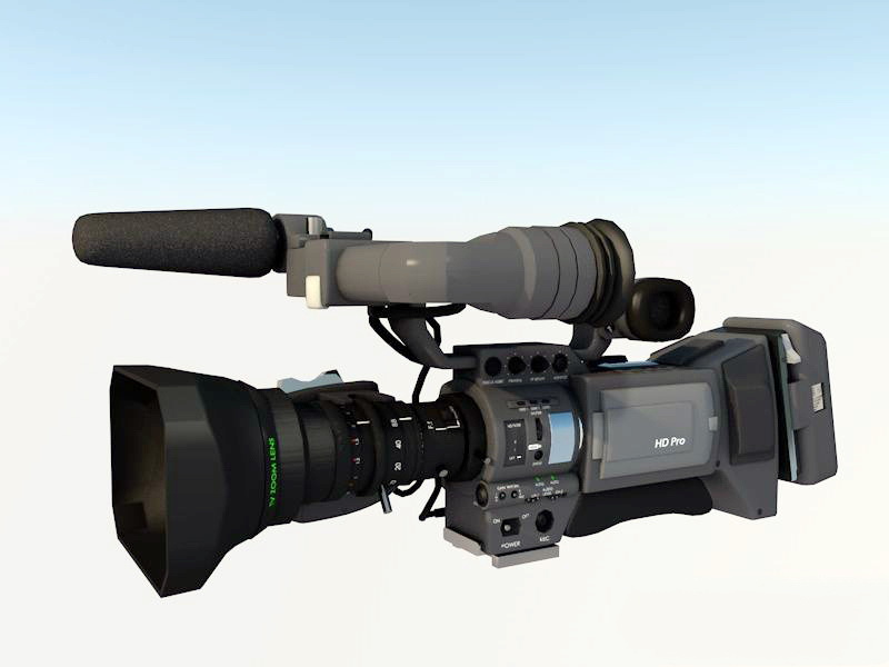 Television Video Camera 3d model 3ds Max,Autodesk FBX,Maya files