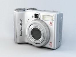 Canon PowerShot A550 Digital Camera 3d model