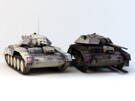 British A15 Crusader Tank 3d model