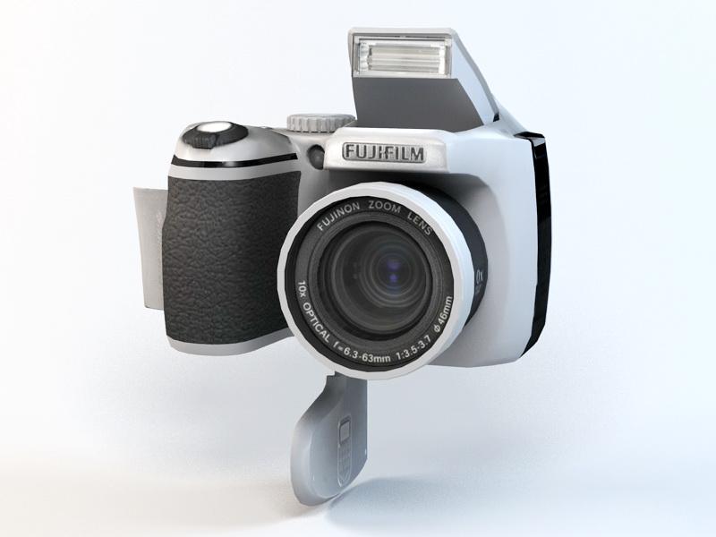 3dSkyHost: Fujifilm FinePix S5700 Camera 3D Model