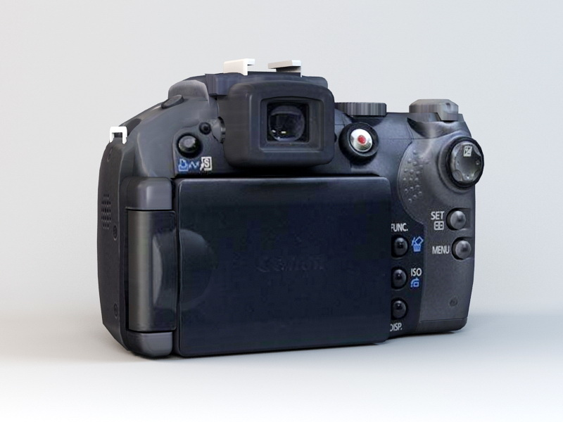 Canon PowerShot S5 IS Camera 3D Model free download
