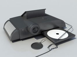 Portable DVD Player and Projector 3d model