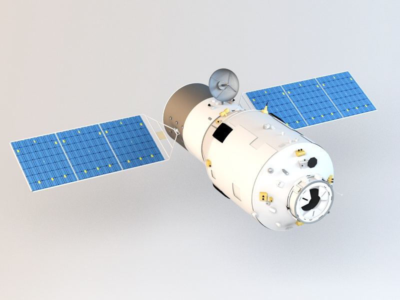 Tianzhou-1 Cargo Spaceship 3d model Autodesk FBX,Cinema 4D files