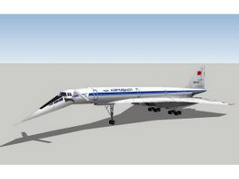 Tupolev Tu-144 Jet Airliner 3d model
